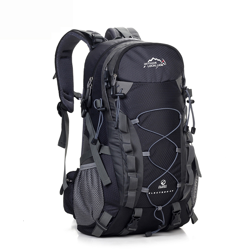 Black Backpack 40L Camping  Hiking Backpacks Travel Bag Women Men Molle Trekking Climbing Bag Backpack Big Capacity Pockets Much