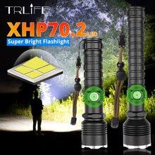 XHP70.2 LED el feneri en güçlü XLamp XHP50 şarj edilebilir USB yakınlaştırma Torch XHP70 18650 26650 avcılık lamba SelfDefense