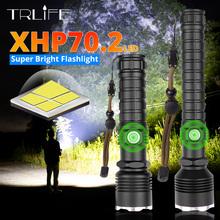 XHP70 2 LED latarka najpotężniejszy XLamp XHP50 akumulator USB latarka z regulacją wiązki światła XHP70 18650 26650 latarka myśliwska samoobrona tanie tanio TRLIFE 5-8 plików Ze stopu aluminium ze stopu aluminium Wysoka średnim niskie Odporny na wstrząsy Twarde Światło Regulowany