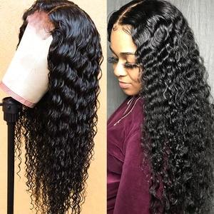 Image 5 - 클로저로 브라질 딥 웨이브 번들 클로저로 인간의 머리카락 묶음 brazillian hair 3 bundles with closure non remy hair