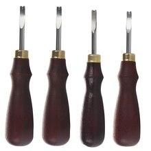 LMDZ Leder schneiden rand detektor trimmen Edelstahl Klinge Flach Nut Drücken Linie Poliert Nebenprodukte Rand Werkzeug