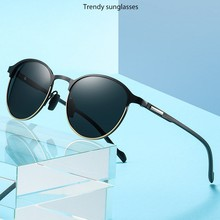 Men Round Polarized Sunglasses Men Women Vintage Rays Brand
