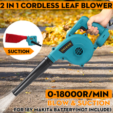 Cordless Electric Air Blower & Suction Handheld Leaf Computer Dust Collector Cleaner