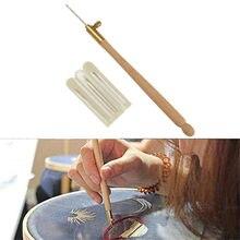 Kit de crochets avec 3 aiguilles, poignée en bois, Tambour, Crochet français, broderie, cerceau pour perles, ensemble d'outils de couture, Crochet, artisanat, bricolage