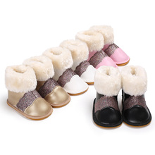 Shoes Boots Toddler Newborn Baby-Girls Winter Infant Soft Warm Rubber 0-18M Soled First-Walkers