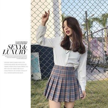 mini pleated plaid striped skirt extender urban tutu japanese school short harajuku preppy cut Uniforms skirts Female Korean abstract striped pleated skirt