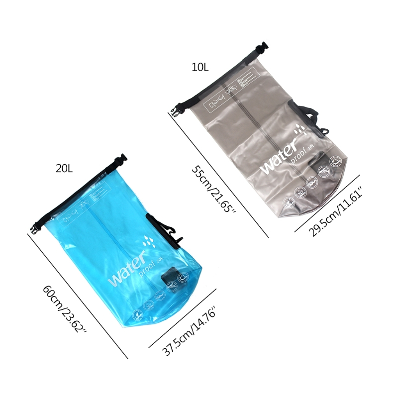10/20L Waterproof Dry Bag Outdoor Swimming Kayaking Drifting Tool Storage Case A69A