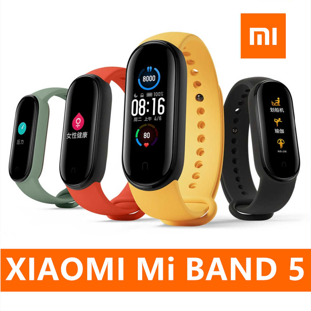 Nieuwe Xiaomi Mi Band 5 Smart Polsband 4 Kleur Hartslag Fitness Tracker Bluetooth Sport Armband Amoled Screen Miband 5 dropship
