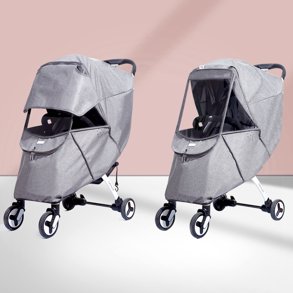 Universal Baby Pushchair Rain Cover Waterproof Umbrella Pram Wind Dust Shield Cover for Strollers,EVA Material Weather Shield Stroller for Baby Rain Protection