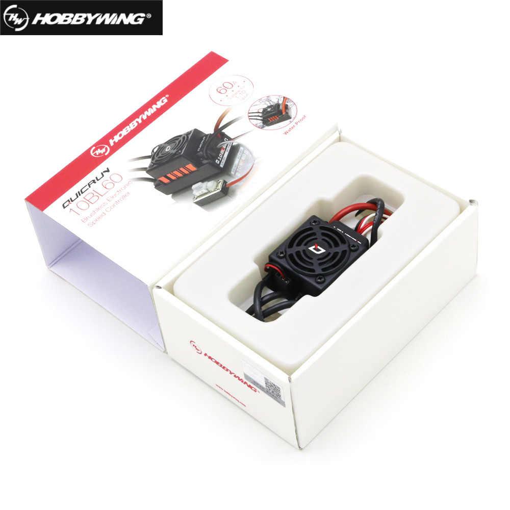 Hobbywing QUICRUN 10BL60 เซนเซอร์ 60A 2-3S Lipo ตัวควบคุมความเร็ว BEC Brushless ESC สำหรับ 1/10 1/12 RC รถ
