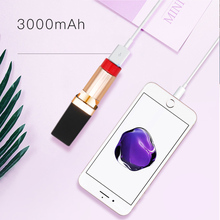 Mini Power Bank Cute Portable Charger Powerbank Mini Lipstic