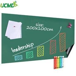 Pizarra adhesiva para pared de 200x100cm, imanes extraíbles de sujeción, pizarra para escribir en casa, oficina, arte, decoración, útiles escolares de aprendizaje