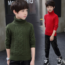 2019 Turn Down Collar Boys Sweaters Solid Pullover Knit Kids Clothes Autumn Winter New Children Sweaters Boy Clothing School все цены