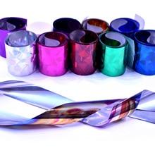 цена на ZKO 10 PCS Starry Sky Nail Foil Holographic Nail Art Transfer Sticker Decoration DIY Design Tips