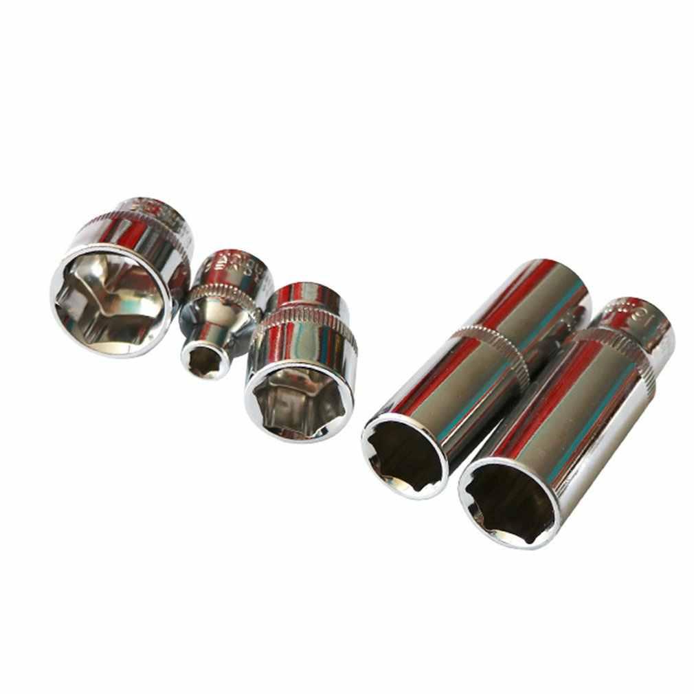 DICHUANG 3/8 inç 15mm/14mm/10mmHexagon kısa kollu lokma anahtar kafa iç altıgen anahtar Allen kafa oto tamir aracı