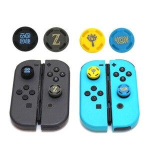 Image 2 - Silicone Thumb Stick Grip Caps Analog Joystick Cover Case For Zelda Mario Nintend Switch NS JoyCon Controllers Joy Con Joypad