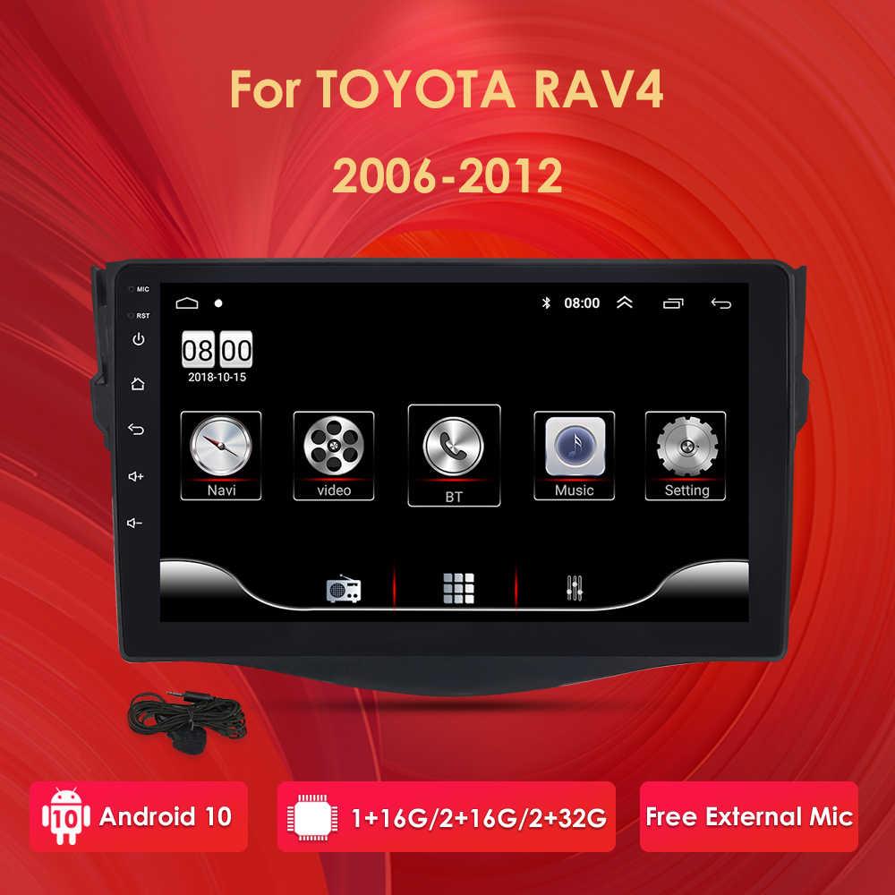 アンドロイド 10 車マルチメディアビデオプレーヤーRAV4 rav 4 4 2007 2008 2009 2010 2011 2012 ラジオgps 2DIN bt usb dvr dab pc
