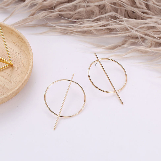 Fashion Exaggeration Super Oversized Geometric Gold Sliver Big Round Circle Bar Earrings For Women Punk Statement.jpg 640x640 - Fashion Exaggeration Super Oversized Geometric Gold Sliver Big Round Circle Bar Earrings For Women Punk Statement Earrings