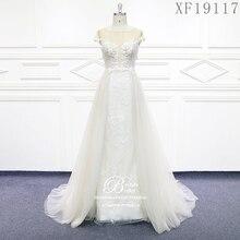 웨딩 드레스 2020 사용자 정의 만든 된 Vestido 드 Noiva 공주 빈티지 골동품 파란색 된 레이스 신부 플러스 크기 XF19117