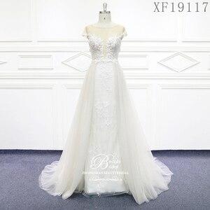 Image 1 - Hochzeit Kleider 2020 Nach maß Vestido De Noiva Prinzessin Vintage Appliques Wulstige Spitze Braut Plus Größe XF19117
