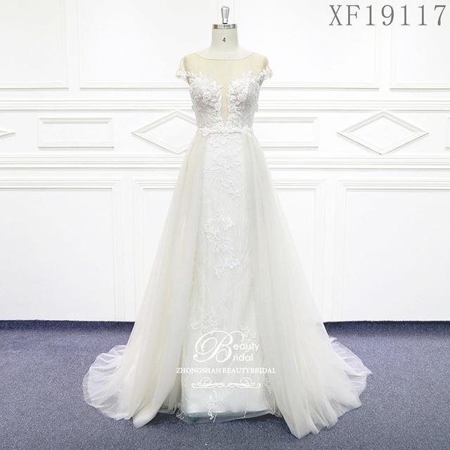 Hochzeit Kleider 2020 Nach maß Vestido De Noiva Prinzessin Vintage Appliques Wulstige Spitze Braut Plus Größe XF19117