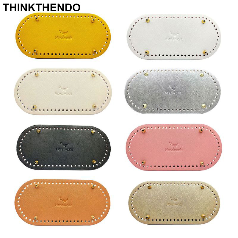 25 X 12cm Oval Bottom For Knitting Bag PU Leather Bag Handmade Diy Accessories Women Bag Long Bottom High Quality Leather