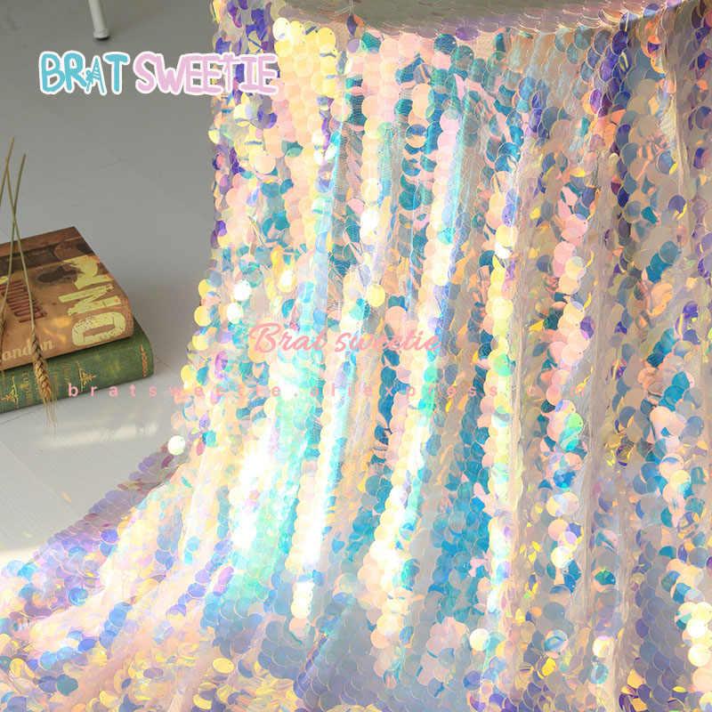 Ánh Kim Nàng Tiên Cá Khăn Trải Bàn Kỳ Lân Đảng Toàn Phương Cưới Cho Bé Sinh Nhật Thêu Ren Lưới Lấp Lánh Sequin Vải