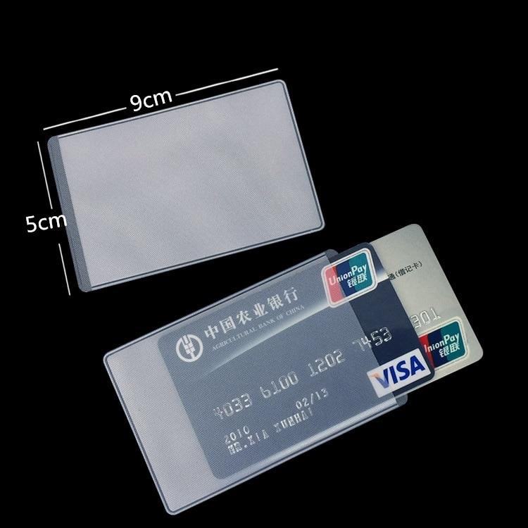 10 Pcs/Set Transparent Card Cover PVC Women Men Protect Bus Business ID Card Bag Pouch Case