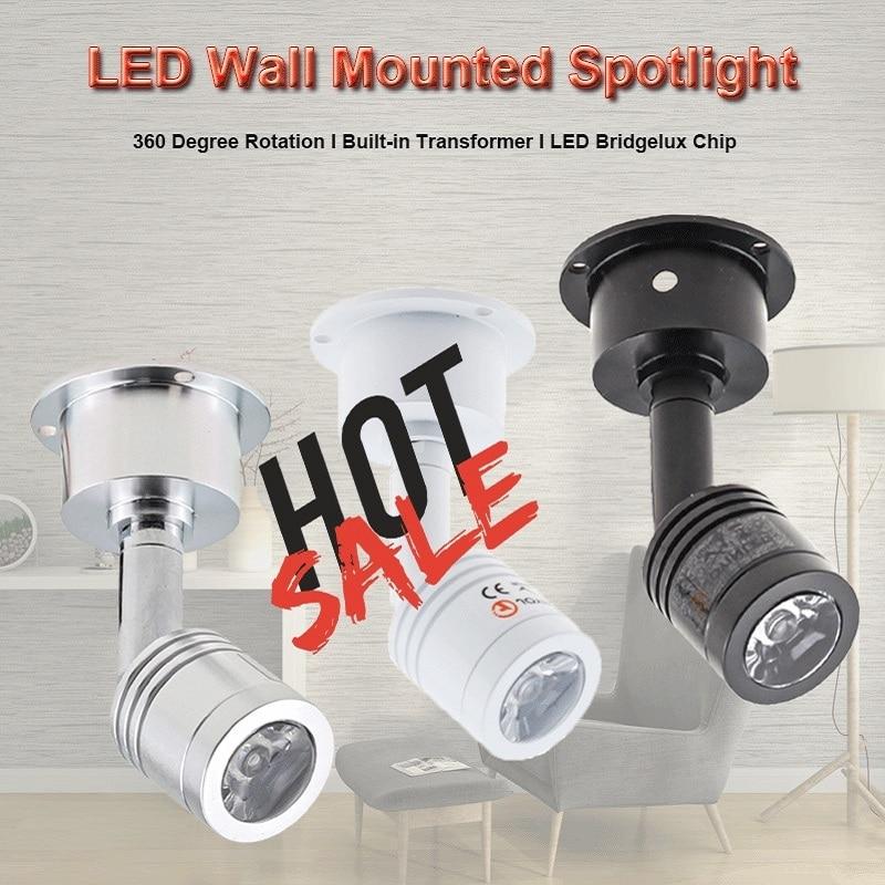 Hot Sale Recessed Led Mini Downlights 3W AC90-260V DC12V 360 Degree Rotating Spot Lighting LED Ceiling Down Lamp Indoor Lighting