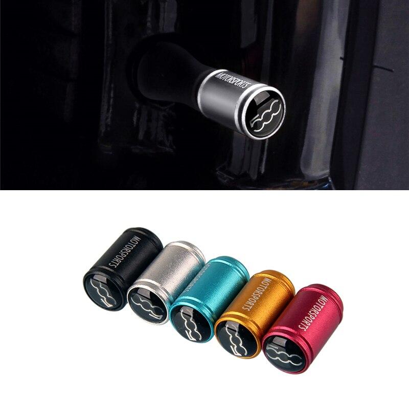 For Fiat 500 500x 124 Spider Punto Doblo Tempra Linea Ducato Stilo Matt Tire Valve Caps Auto Accessories Tyre Dustproof Cover
