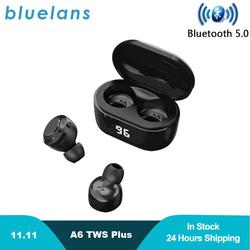 New A6 Mini TWS Plus Earphones Bluetooth 5.0 Earbuds Stereo Bass LED Power Display Waterproof Earbud Support Apt-X/SBC
