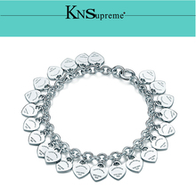 KN Bulgaria Bracelet Original 100% 925 Sterling Silver Women Free Shipping Jewelry High-end Quality Gift have logo 1:1
