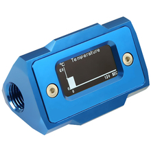 Oled Digital Display Water Temperature Meter Water Cooler System Double G1/4 Inch Thermometer Temperature Sensor Fitting(B