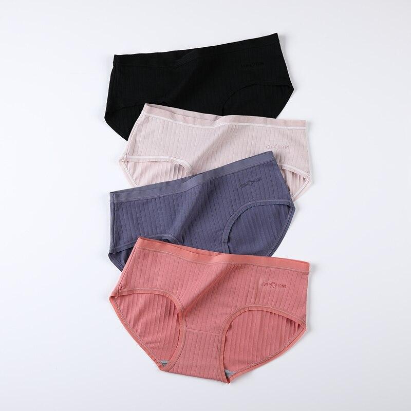 M-4XL Women Underpants Plus Size Cotton Solid Color Underwear Female Causal Panties Sexy Lingerie Ladies Briefs Women Intimates