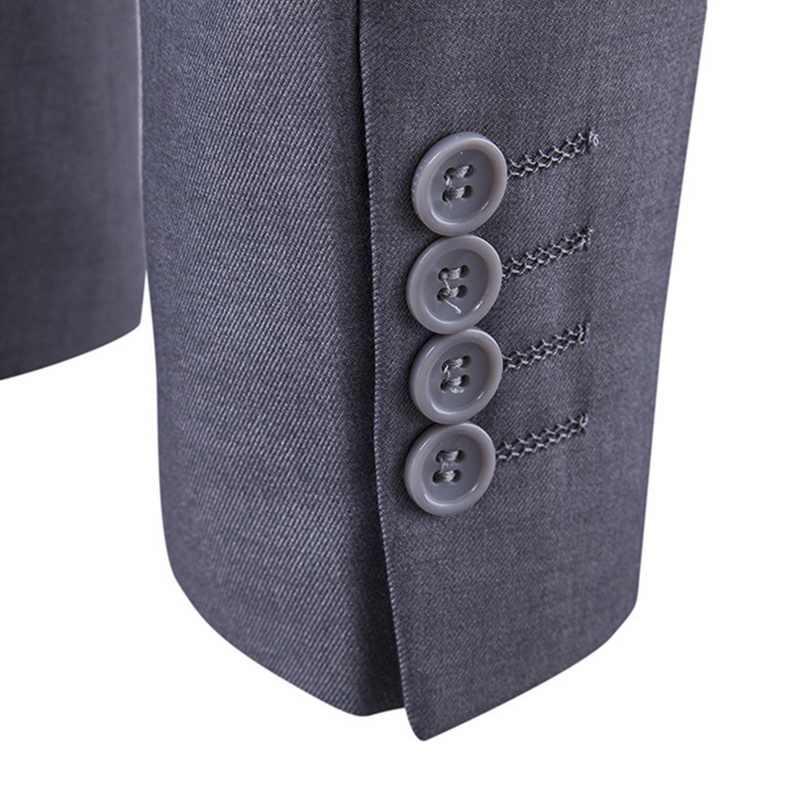 3 Pieces Zaken Blazer + Vest + Broek Pak Sets Mannen Herfst Mode Solid Slim Bruiloft Set Vintage Klassieke Blazers mannelijke