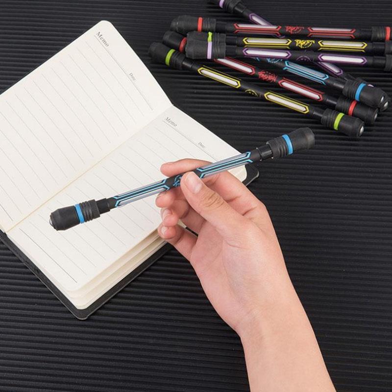 Glow вращающийся шариковые ручки поворота спиннинг игровая ручка Детский Светильник яркими цветами светодиодной вспышкой игрушки для детей ...