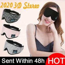 Nouveau 2020 3DBlindfoldmanufacturers casque sans fil Bluetooth v5.0 appel musique sommeil artefact respirant masque pour les yeux de sommeil casque