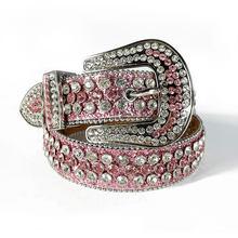Ocidental cowboy cowgirl bling strass cinto de luxo cinta masculina feminino colorido cristal cravejado cinto cinto de cinta ceinture femme