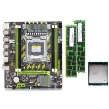 X79 X79G Placa base con LGA2011 Combos Xeon E5 2620 CPU 2 uds x 4GB = 8GB de memoria DDR3 RAM 1333Mhz PC3 10600R(China)