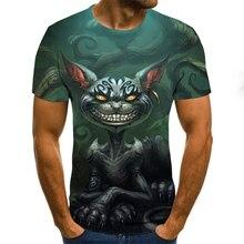 2020 осень новинка 3DT рубашки для мужчин с короткими рукавами ужасающие различные выкройки футболка мужские% 27 лет O-образным вырезом рубашка мальчик размер уличная одежда