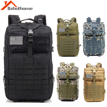 Waterproof 900D Oxford Fabric Army Tactical Backpack Military Assault Bags Outdoor 3P Molle Pack Trekking Camping Hunting Bag 3p 50l tactical military army outdoor bag women men camping backpacks hiking sports molle pack climbing backpack oxford rucksack