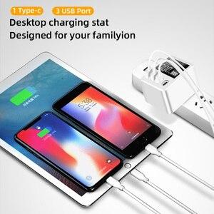 Image 5 - 30ワット電話急速充電器qc 3.0マイクロusbタイプc電源アダプタledディスプレイ3 usbポート + 1タイプcポートiphone android用アダプタ