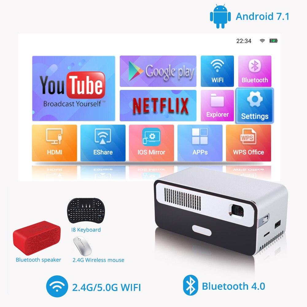 Touyinger HDP300 250 ANSI Mini LED przenośny projektor dlp WiFi bateria HD Android 1080P Bluetooth kieszonkowy Pico ręczny Beamer