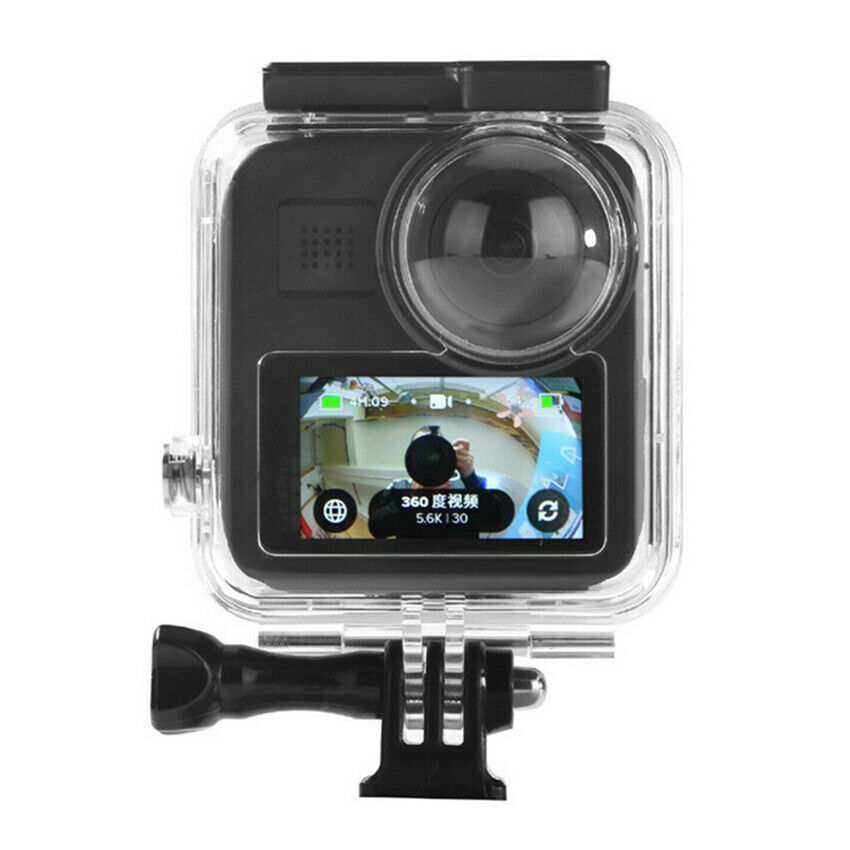 Waterproof Housing Case for Gopro Max Action Camera, Underwater Diving Protective Shell 20M with Bracket Accessories
