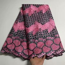 Новое поступление Африканский Гипюр кружево ткань высокое качество вышивка в нигерийском стиле французский шнур кружево швейцарская вуал...