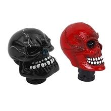 1 Набор, красный резиновый череп, универсальный автомобильный Грузовик, ручная ручка переключения передач и 1 набор, черный резной череп, универсальный автомобильный рычаг переключения передач