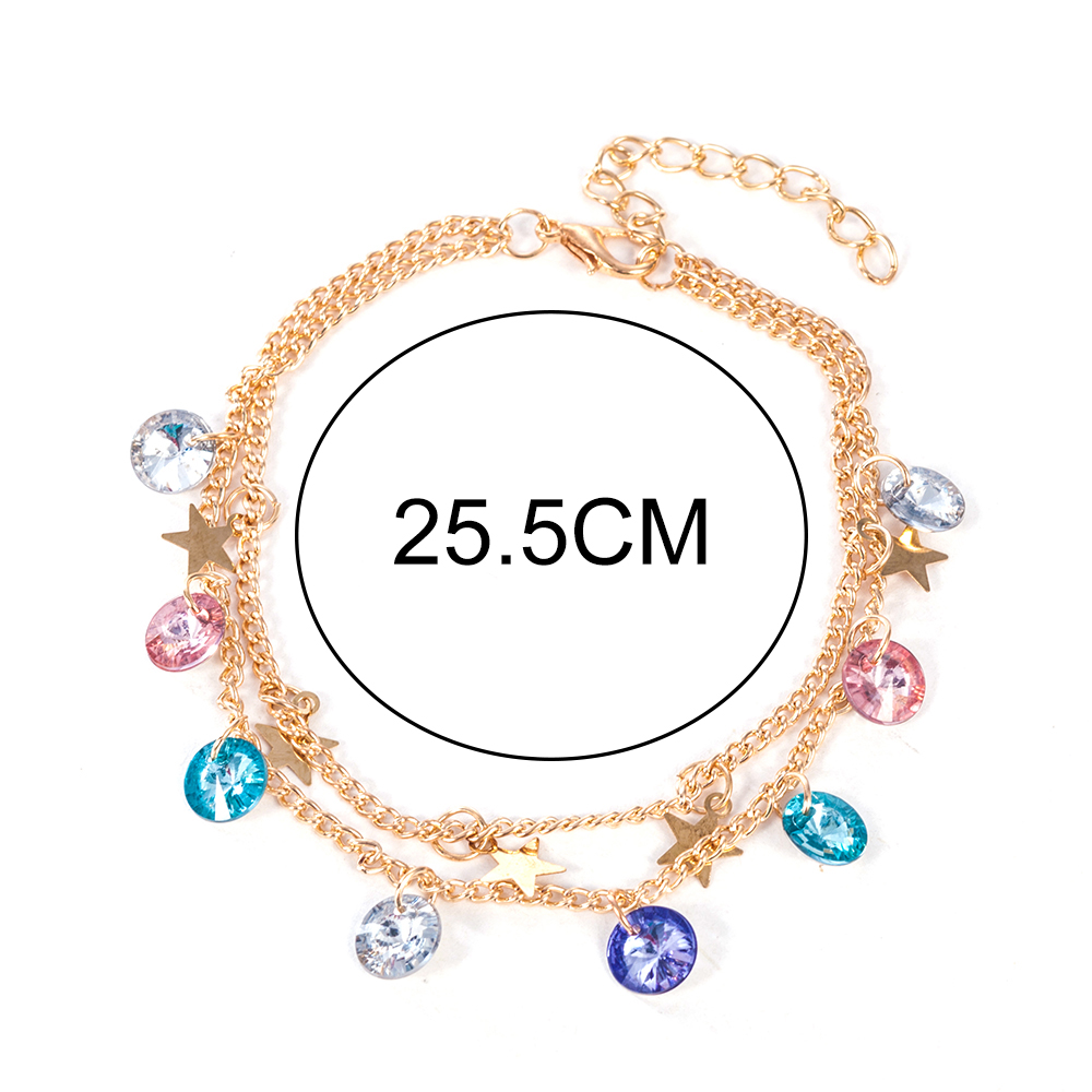 Modern Simple Multi-layer Star Anklets Set For Women Vintage Handmade Anklet Bracelet on Leg Beach Party Ocean Jewelry 2019 3