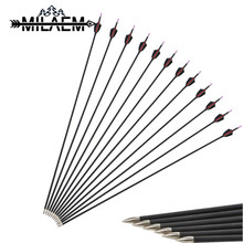 12 Pcs Spine 1000 Target Shooting Carbon Arrow With Fixed Arrowheads Fit For OD 6 mm Shaft Archery Accessories