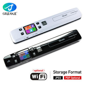 Mini Iscan Document & Images Scanner A4 Size JPG/PDF Formate Wifi 1050DPI High Speed Portable LCD Display for Business Receipts
