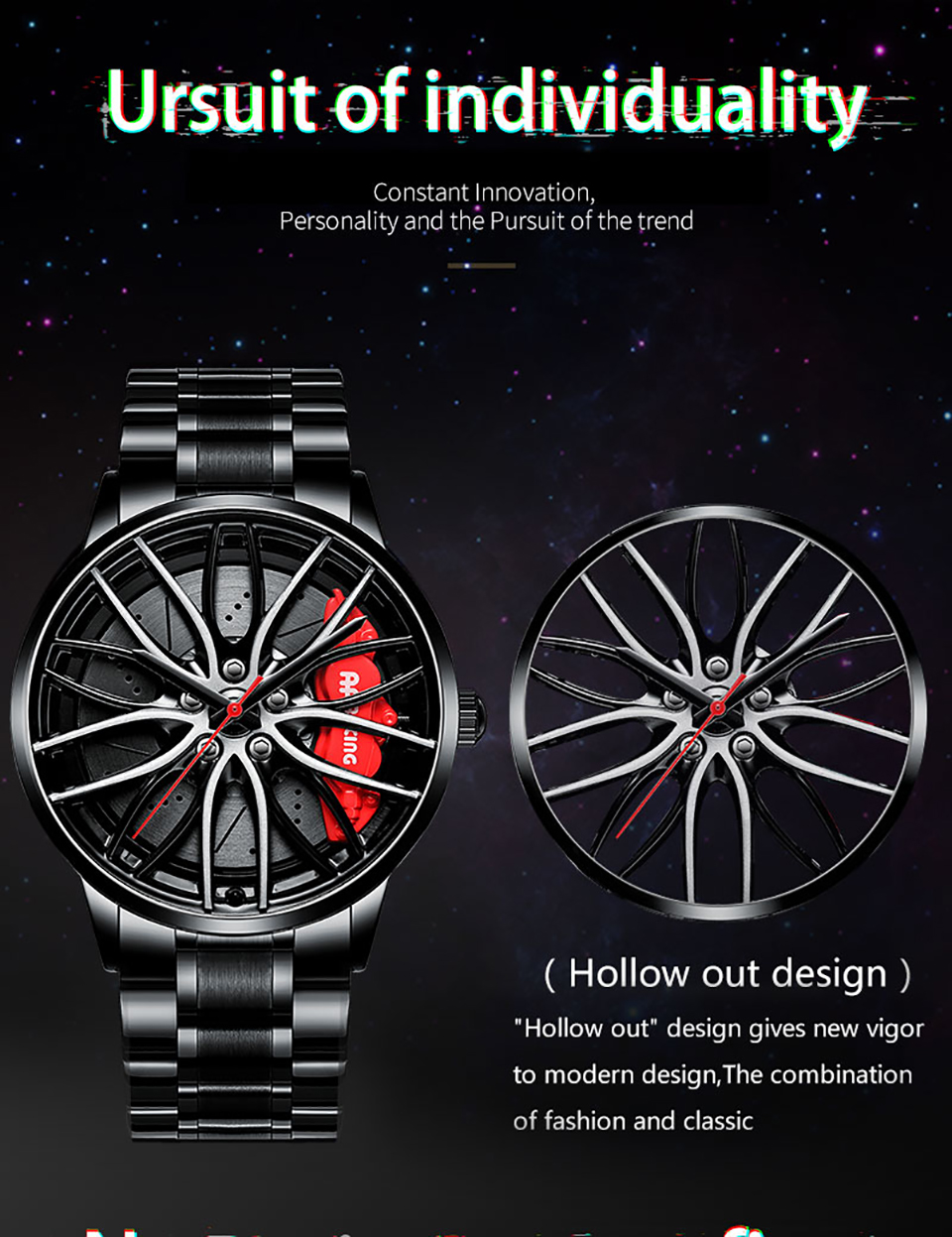 H1479dab6f5fc48629305e6d89963f7a4F NEKTOM Sports Car Wheel Rim Hub Watches Men Custom Design Sport Car